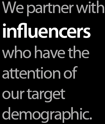 public outreach - influencers